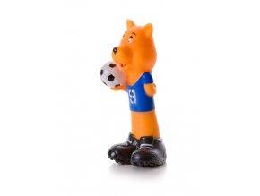 46375 jk animals piskaci vinylova hracka pes fotbal 16 5 cm 1