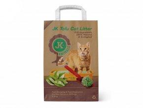 Bio-rozložitelná Tofu podestýlka s vůní zeleného čaje, stelivo pro kočky bez chemických přísad, 2,5 kg, kočkolit (Tofu Cat Litter Green Tea)