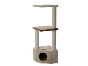 59727 1 jk animals skrabadlo pro kocky olivia 36 36 108 cm bezova hneda 1