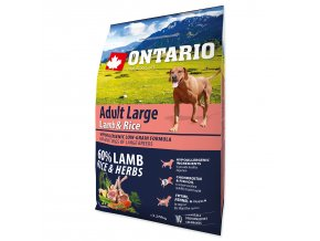 ONTARIO Dog Adult Large Lamb & Rice & Turkey (2,25kg)