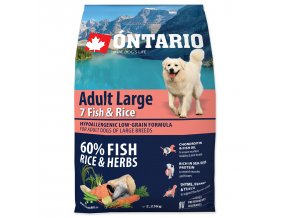 ONTARIO Dog Adult Large Fish & Rice (2,25kg)