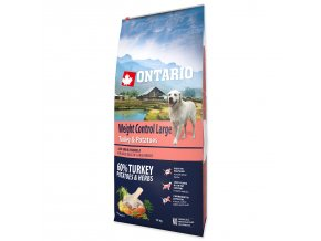 ONTARIO Dog Large Weight Control Turkey & Potatoes & Herbs (12kg)