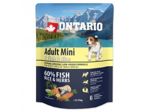 ONTARIO Dog Adult Mini Fish & Rice (0,75kg)