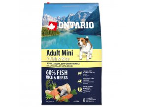 ONTARIO Dog Adult Mini Fish & Rice (6,5kg)