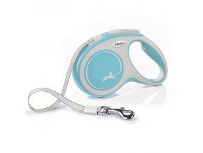 Vodítko Flexi Comfort M pásek 5m/25kg světle modrá