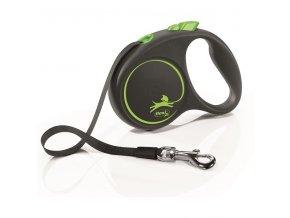 Vodítko Flexi Black design S pásek 5m/15kg zelená
