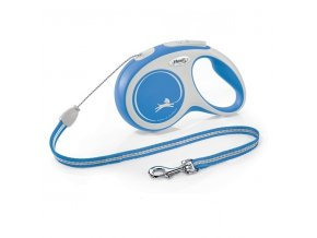 Vodítko Flexi Comfort S lanko 5m/12kg modrá