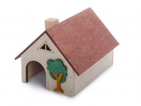 33021 jk animals dreveny domek pro hlodavce krecek velky 14 10 11 cm 1