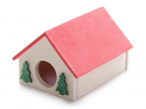 33020 jk animals dreveny domek pro hlodavce krecek maly 10 8 8 cm 1