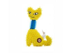 46107 2 jk animals plysova hracka kocka mop tpr krk 23 cm zluta 0