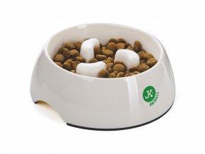 48338 jk animals plastova miska proti hltani pro psa stredni pr 14 cm 2