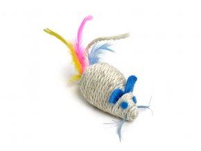 58662 jk animals hracka sisalova chrastici mys 10 cm 1