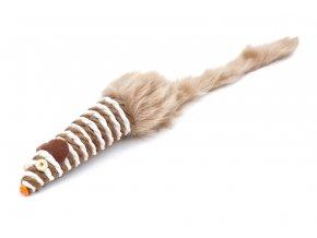 58774 jk animals hracka sisalova mys dlouha pruhovana 28 cm 1