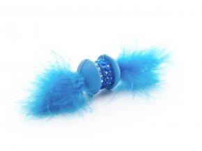 58789 1 jk animals hracka pro kocky modra tpr cinka s pirkem 15 cm 1