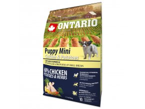 ONTARIO Puppy Mini Chicken & Potatoes & Herbs (2,25kg)