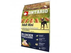 ONTARIO Dog Adult Mini Chicken & Potatoes & Herbs (2,25kg)