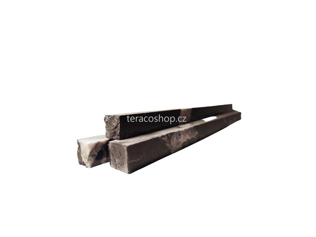 Mramorové pásky-NERO MARQUINA  16 X 20 mm