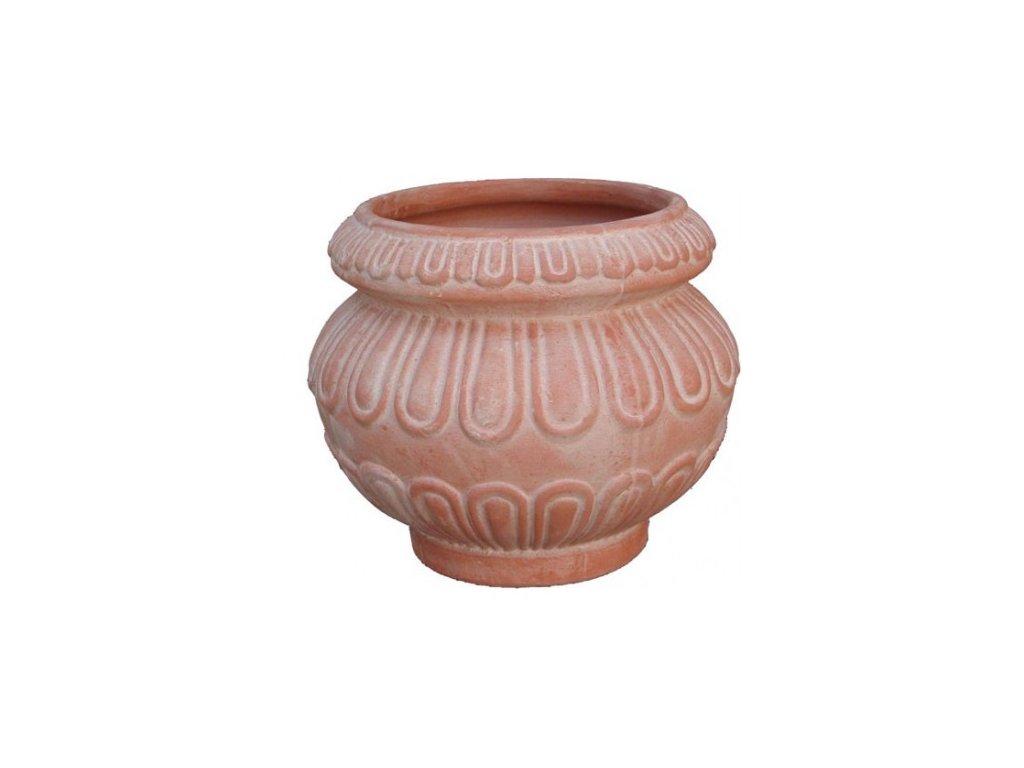 Terakotový květináč Cachepot Decorato A-CC05