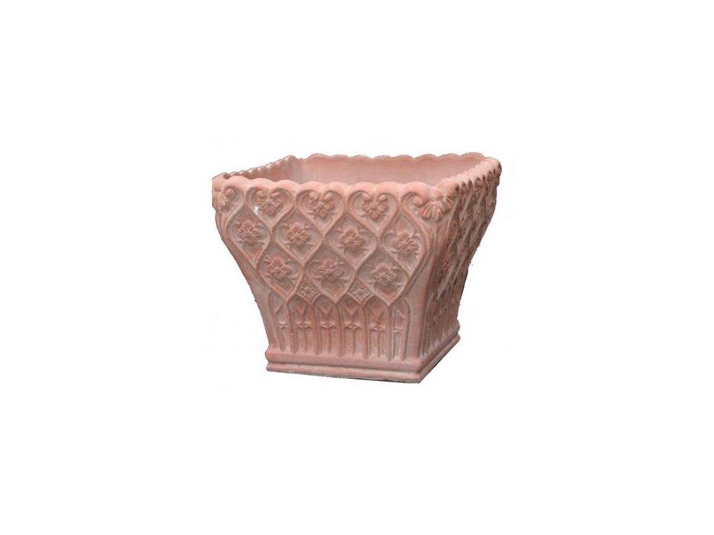 Terakotový květináč Cesta Decorata A-CE10