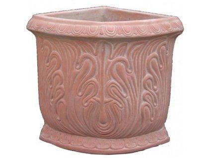 Terakotový květináč Angolo Decorato A-AG07
