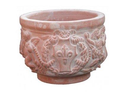 Tearakotový květináč Cachepot Decorato A-CC04