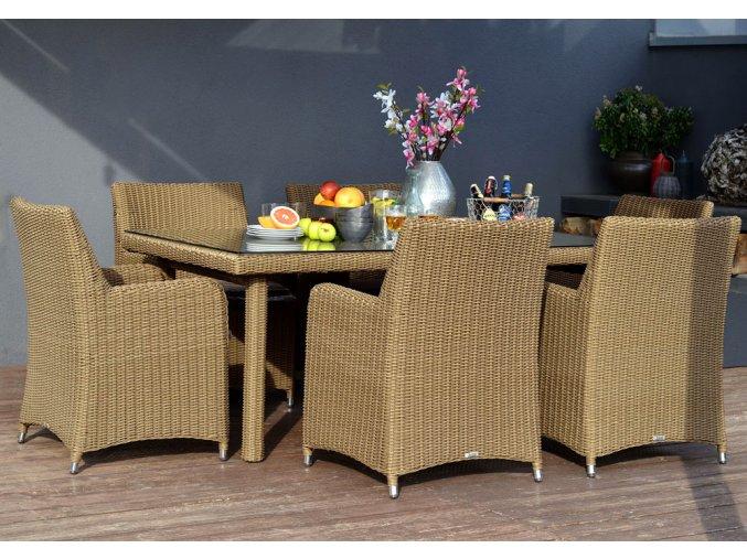 Ratanový zahradní nábytek jídelní sestava 6