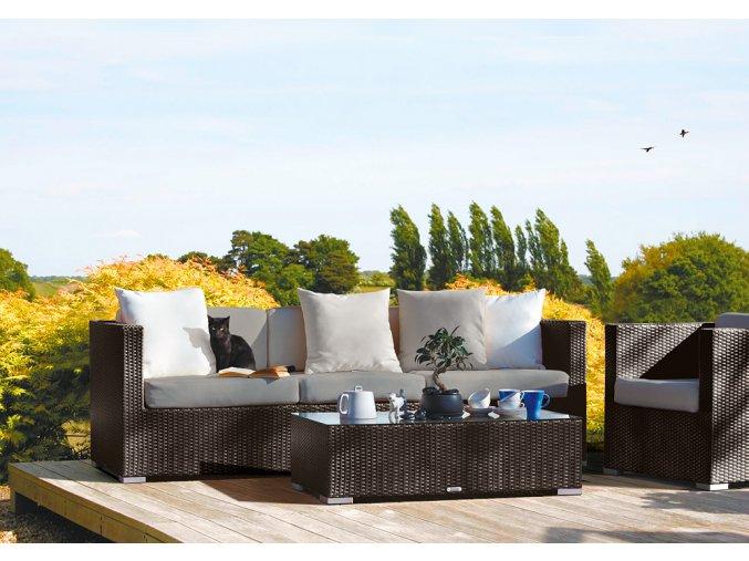 Ratanový zahradní nábytek Pohovka choco pro 3