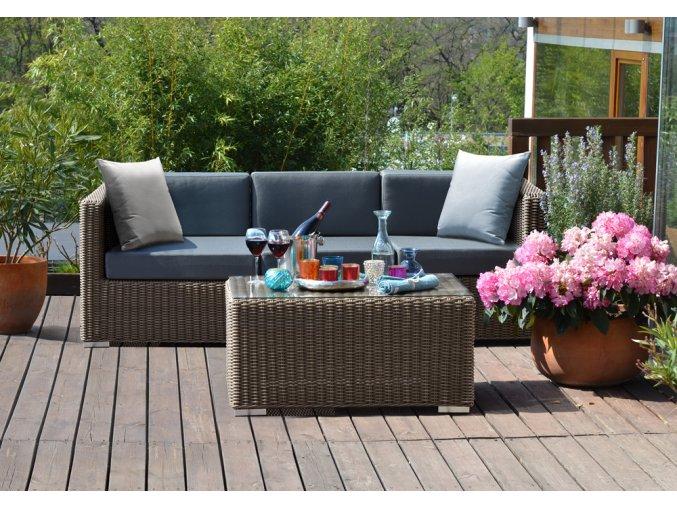 Ratanový zahradní nábytek kvalitní trojsedačka