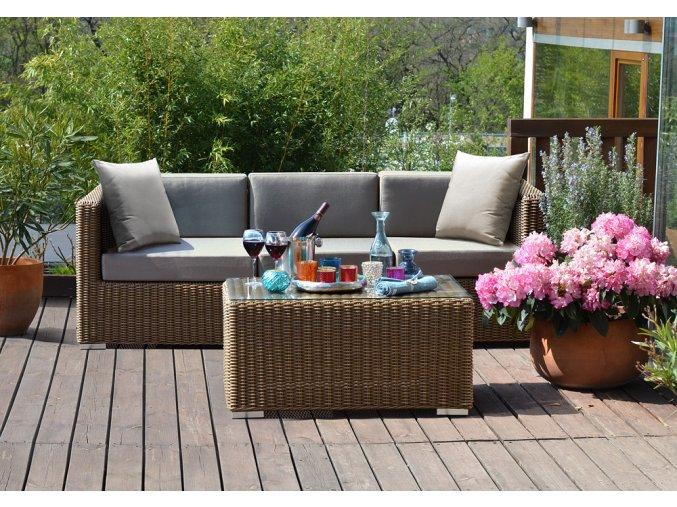 Ratanový zahradní nábytek Pohovka 3