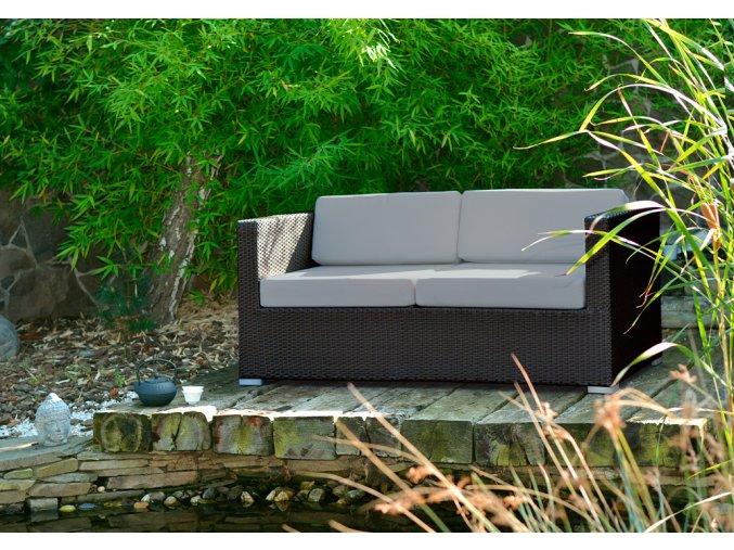 Ratanový zahradní nábytek Pohovka pro 2 Choco