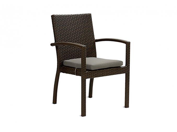 Ratanový zahradní nábytek  Židle Korsika choco