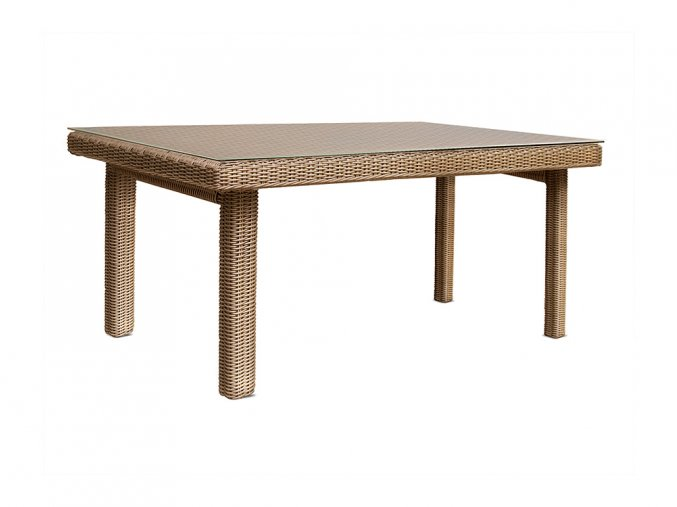 Ratanový zahradní nábytek stůl jídelní pro 6 osob