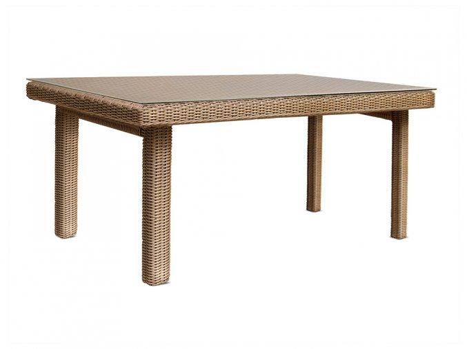 Ratanový zahradní nábytek stůl pro 6