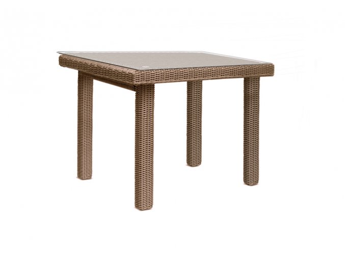Ratanový zahradní nábytek jídelní stůl pro 4 osoby