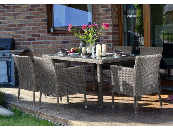 Ratanový zahradní nábytek jídelní sestava
