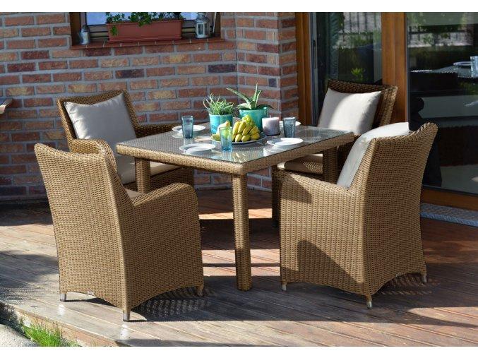 Ratanový zahradní nábytek jídelní sestava Fiesta 4