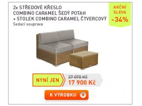 02 Pruvan 19 2xstred kreslo Caramel+stolek
