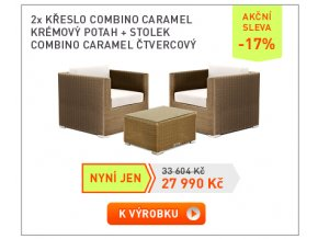11 Pruvan 19 2xkreslo Caramel+stolek ctverec