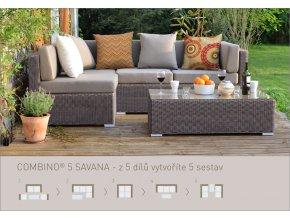 Ratanový zahradní nábytek Combino Savana 5 dílů