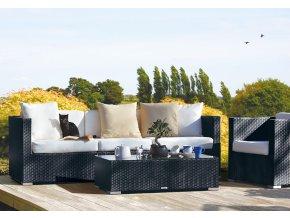 Ratanový zahradní nábytek Pohovka nero pro 3
