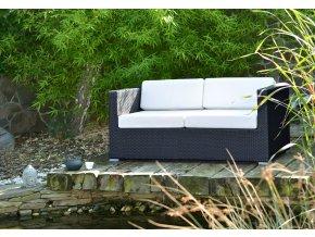 Ratanový zahradní nábytek Pohovka nero XL pro 2