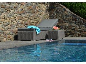 Ratanový zahradní nábytek lehátka k bazénu
