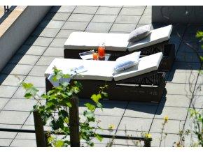 Ratanový zahradní nábytek lehátko k bazenu Bikini choco set 2