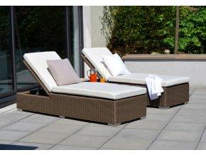 Ratanový zahradní nábytek Lehátka Bikini Caramel