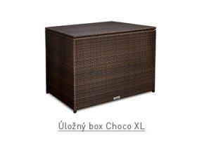Ratanový zahradní nábytek Úložný box choco XL