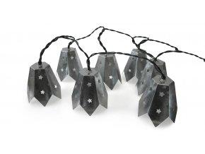 Ratanový zahradní nábytek Světelný řetěz - metalický