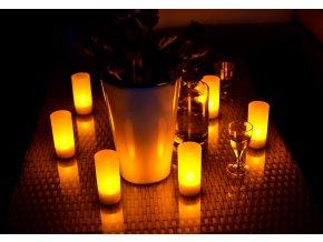 Ratanový zahradní nábytek osvětlení LED svíčky čajové