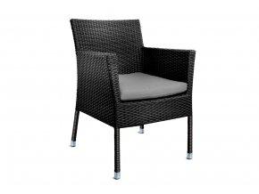 Ratanový zahradní nábytek Židle Macao nero