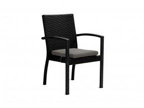 Ratanový zahradní nábytek Židle Korsika nero