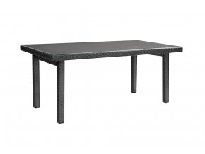 Ratanový zahradní nábytek Stůl nero  - pro 6